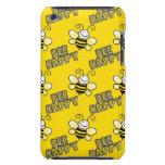 El amarillo retro manosea el modelo de la abeja iPod Case-Mate protectores