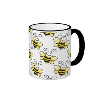 El amarillo retro manosea el modelo de la abeja