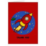 El amarillo rojo de Rocket le agradece tarjeta de