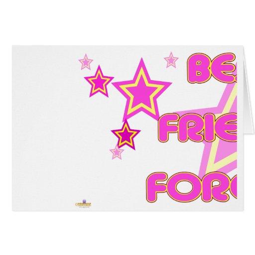 El amarillo rosado de los mejores amigos protagoni tarjeta de felicitación