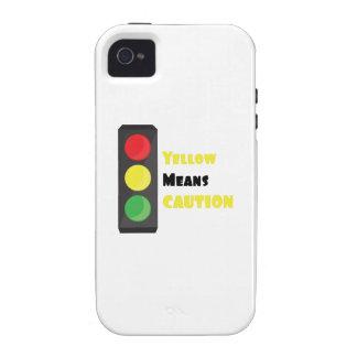 El amarillo significa la precaución iPhone 4/4S fundas