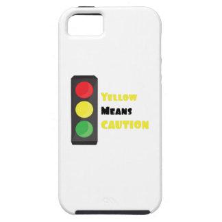 El amarillo significa la precaución iPhone 5 Case-Mate cobertura