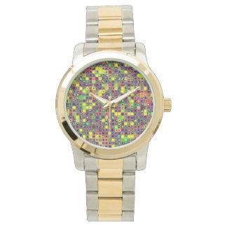 """El amarillo """"Sun mancha"""" el modelo colorido de las Relojes De Pulsera"""