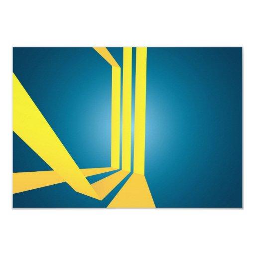 El amarillo triple abstracto raya la disposición comunicado personal