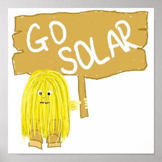 El amarillo va solar posters