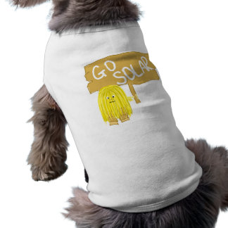 El amarillo va solar playera sin mangas para perro