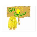 El amarillo va Sun solar Postal