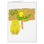 El amarillo va Sun solar Tarjetón