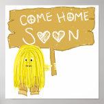 El amarillo viene a casa pronto poster