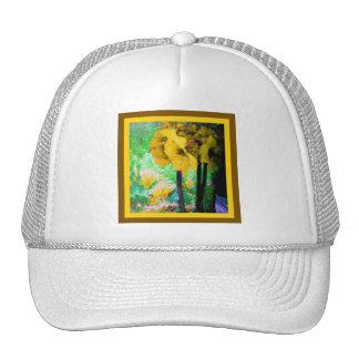 El Amaryllis amarillo florece la pintura por Sharl Gorros Bordados