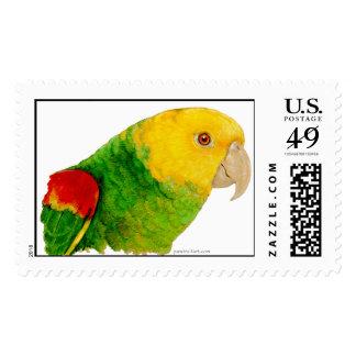 El Amazonas dirigido amarillo doble (sellos) Timbre Postal