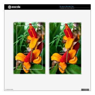 El Amazonas enciende la piel del fuego - floral Pegatina Skin Para Kindle Fire