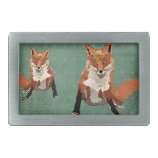 El ámbar Foxes la hebilla del cinturón retra Hebilla De Cinturon