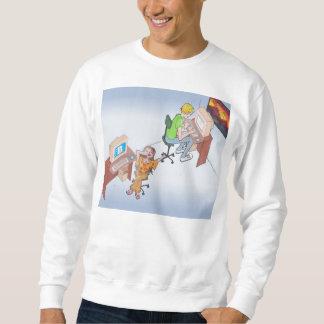 El ámbar y dibujó caracteres de la galería de arte suéter