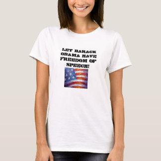 el american_flag_l, dejó a Barack Obama tener Playera