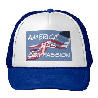 el americanflagcutout, América, tiene, compasión Gorros Bordados