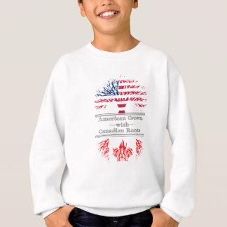 El americano crecido con el canadiense arraiga el sudadera