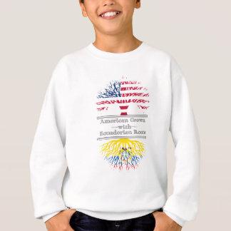 El americano crecido con el Ecuadorian arraiga el Sudadera