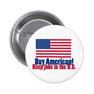 El americano de la compra mantiene trabajos los E. Pin Redondo De 2 Pulgadas