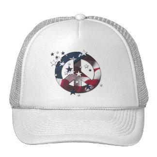 El americano del signo de la paz protagoniza y ray gorras de camionero