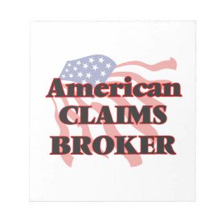 El americano demanda el agente bloc de notas