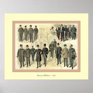 El americano forma la publicidad 1899 del vintage  impresiones