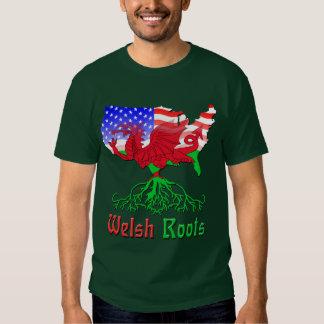 El americano Galés arraiga la camiseta Crys T Poleras
