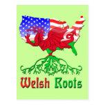 El americano Galés arraiga las postales