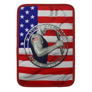El americano hizo fuerte americano funda  MacBook