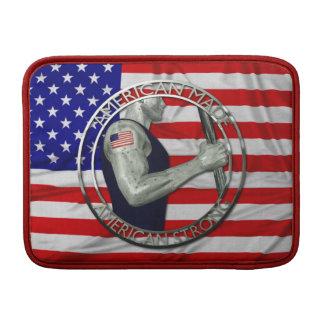 El americano hizo fuerte americano fundas macbook air