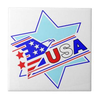 El americano judío azulejos