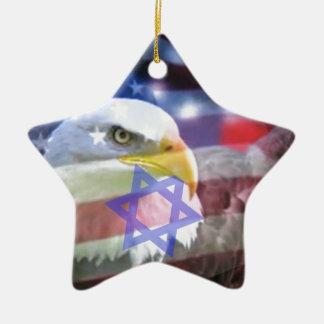 El americano judío ornamento para arbol de navidad