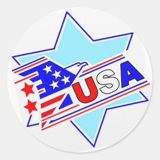 El americano judío etiqueta redonda