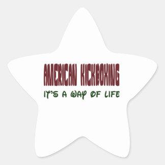 El americano kickboxing lo es una manera de vida colcomanias forma de estrellaes