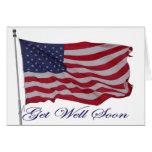 El americano patriótico consigue la tarjeta bien