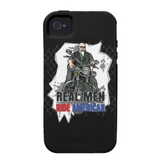 El americano real del paseo de los hombres Bikes iPhone 4 Carcasas
