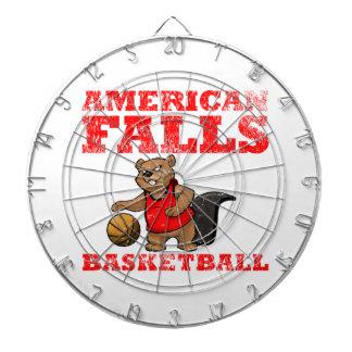 El americano se cae baloncesto de los castores tablero de dardos