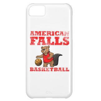 El americano se cae baloncesto de los castores funda para iPhone 5C