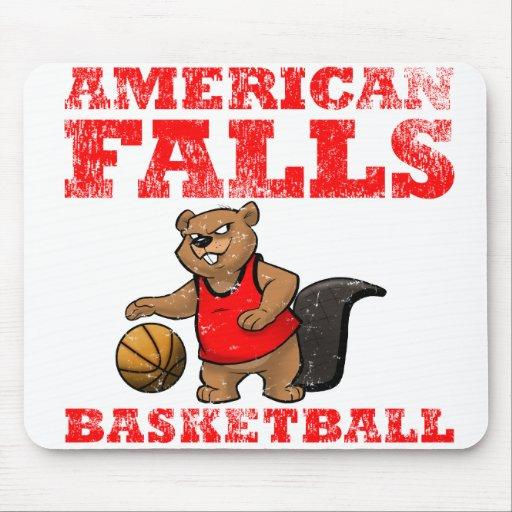 El americano se cae baloncesto de los castores alfombrilla de raton
