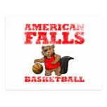 El americano se cae baloncesto de los castores postales
