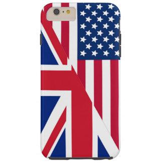 El americano y Union Jack señalan la caja más del Funda Resistente iPhone 6 Plus