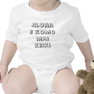 El AMI Keiki del komo de la hawaiana E Traje De Bebé