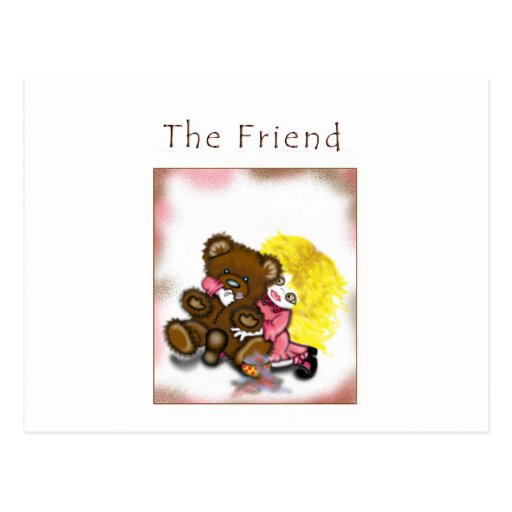 El amigo 2 tarjetas postales