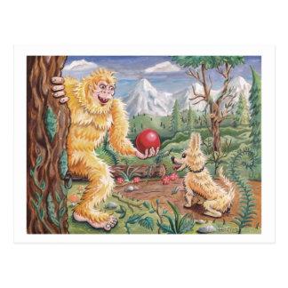 El amigo de Bigfoot Tarjetas Postales