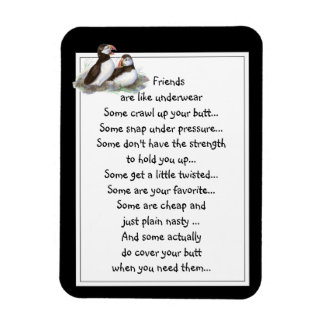 El amigo de la diversión es como frailecillo de la iman rectangular