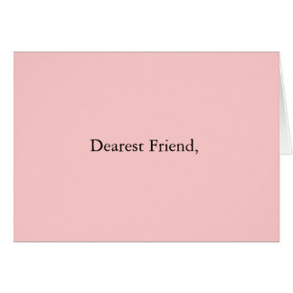 El amigo más estimado tarjeta de felicitación