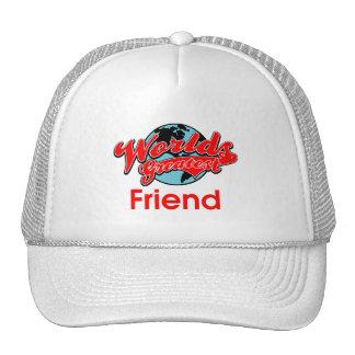 El amigo más grande del mundo gorras de camionero