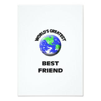 """El amigo más grande más grande del mundo invitación 5"""" x 7"""""""