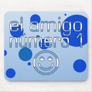 El Amigo Número 1 in Argentine Flag Colors for Boy Mouse Pad
