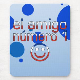 El Amigo Número 1 in Chilean Flag Colors for Boys Mouse Pad